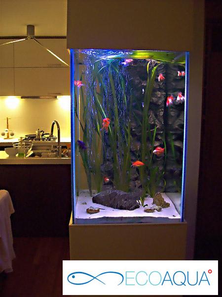Aquarium in pillar
